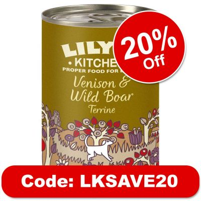 Lily's Kitchen Venison & Wild Boar Terrine for Dogs