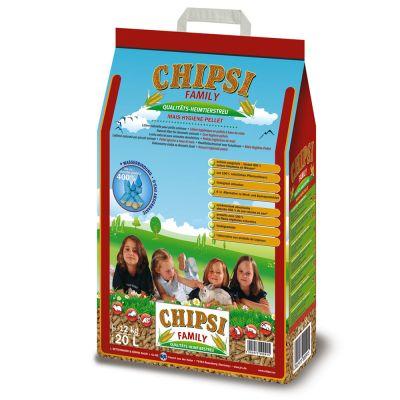 Litière de maïs Chipsi Family pour rongeur et oiseau