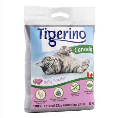 liti re tigerino canada senteur talc pour chat zooplus. Black Bedroom Furniture Sets. Home Design Ideas