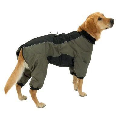 Long II Dog Overall - Olive & Black