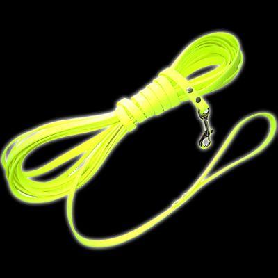 Longe en biothane Heim, jaune fluo pour chien