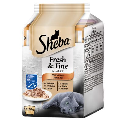 Lot Sheba Délices du jour - Fresh & Fine 24 x 50g pour chat