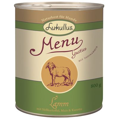 Lukullus Menu Gustico Lamm mit Süßkartoffel, Mais & Karotte