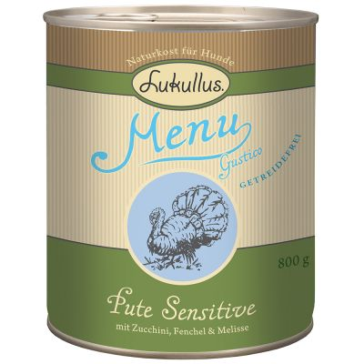 Lukullus Menu Gustico Sensitive Tacchino  - Senza cereali