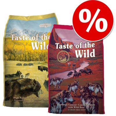 Míchané balení 2 druhy Taste of the Wild za svělou cenu!