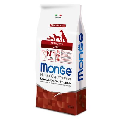 Monge Superpremium All Breeds Adult Agnello, Riso & Patate