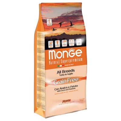 Monge Superpremium Grain Free All Breeds con Anatra e Patate