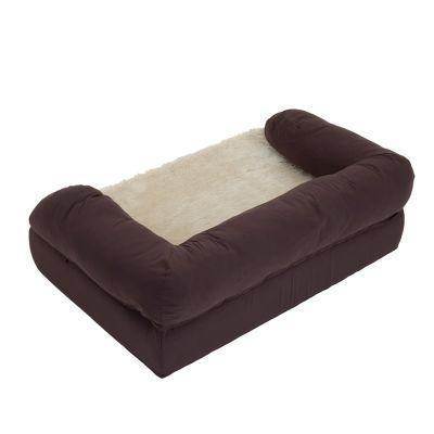 Orthopaedic Dog Bed - Brown / Beige