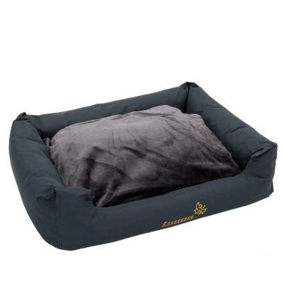 Panier Sleepy Time avec coussin, gris pour chien
