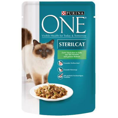 purina one sterilised 6 x 85 g g nstig bei zooplus. Black Bedroom Furniture Sets. Home Design Ideas