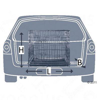 Set Gabbia per cani Trixie + Cuscino per trasportini
