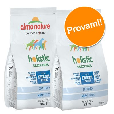 Set prova misto! Almo Nature Holistic Grain Free XS/S Adult 2 x 2 kg