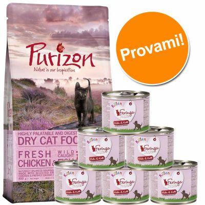 Set prova misto Kitten: 400 g Purizon & 6 x 200 g Feringa