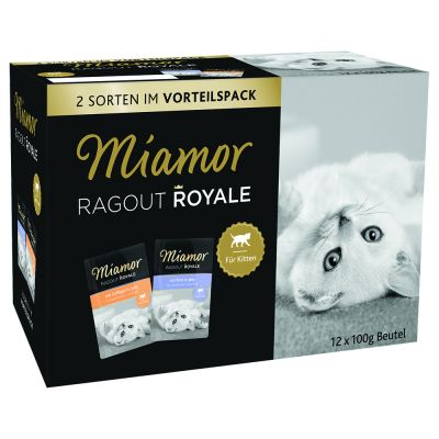 Set prova misto Miamor Ragù  Royal Kitten 12 x 100 g