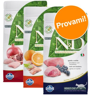 Set prova misto! 3 x 1,5 kg Farmina N&D Grain Free