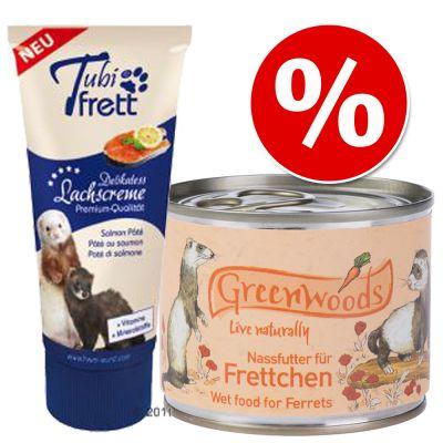 Set risparmio Cibo umido per furetti + Tubifrett pasta