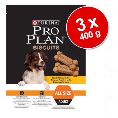 Set Risparmio! Purina Pro Plan Biscuits 3 x 400 g