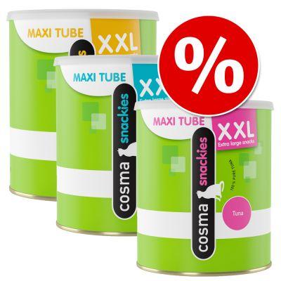 Set risparmio! 3 x Cosma Snackies XXL Maxi Tube