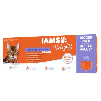 Super-Sparpaket IAMS Delights 96 x 85 g