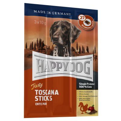 Testpaket Happy Dog Toscana Trocken- & Nassfutter und Snack