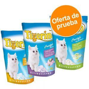 Tigerino Crystals 3 x 5 l arena en 3 variedades