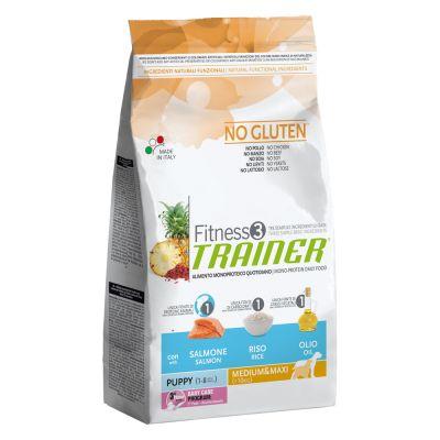 Trainer Fitness 3 Puppy Medium/Maxi No Gluten Salmone & Riso