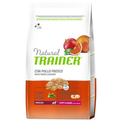 Trainer Natural Medium Puppy & Junior Pollo fresco