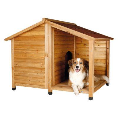 Trixie Natura Hundehütte Lodge mit Terrasse