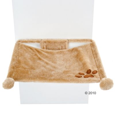 Trixie Plush Wall Mounted Cat Bed - Beige