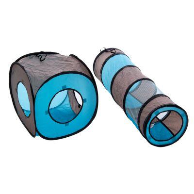 connect 2 en 1 tunnel de jeu pour chat zooplus. Black Bedroom Furniture Sets. Home Design Ideas