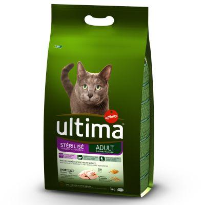Ultima Adult 2 x 3 kg para gatos esterilizados - Pack mixto