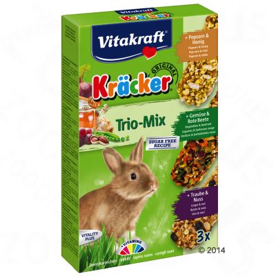 Vitakraft krakersy dla królików miniaturek Trio-Mix