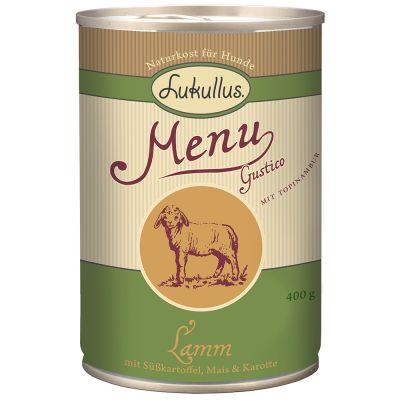 Voordeelpakket Lukullus Menu Gustico 24 x  400 g Hondenvoer