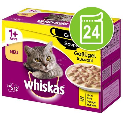 Whiskas 1+ Creamy Soup 24 x 85 g