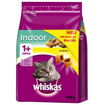 Whiskas 1+ Indoor, poulet pour chat