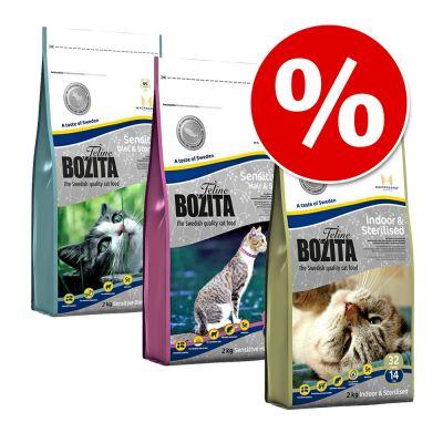 3 x 2 kg Bozita Feline im gemischten Probierpaket