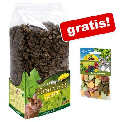 3 x 1,35 kg JR Farm Grainless Complete + mieszanka dropsów, 75 g gratis!