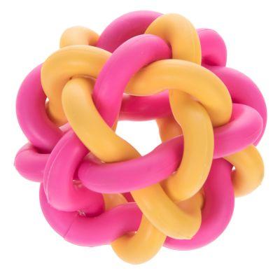 zoolove palla gioco colorata intrecciata per cani